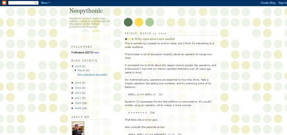 Neopythonic