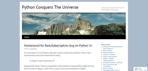 Python Conquers The Universe