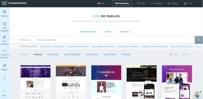 PSD Templates by TemplateMonster