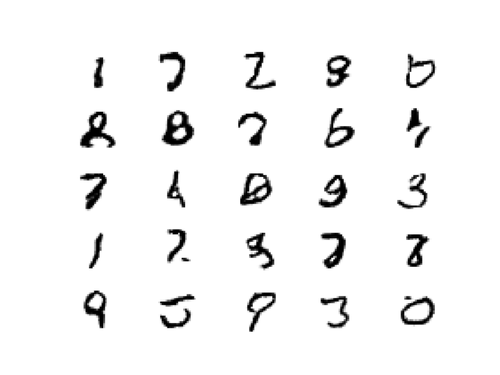 Example of 25 GAN Generated MNIST Handwritten Images