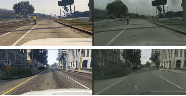 Figure 11. Translating GTA Landscapes to realistic ones!
