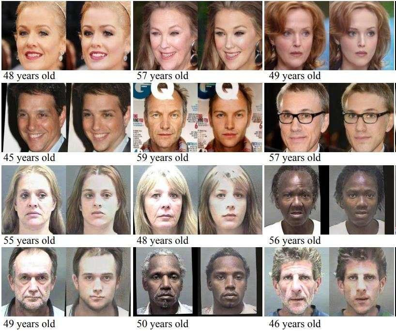 Figure 18. Prediction how you'll look in a decade using GANs