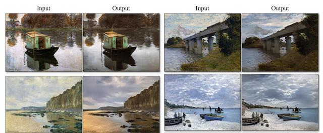Figure 5. EFigure 5. Example of Translation from Paintings to Photographs With CycleGAN. Taken from Unpaired Image-to-Image Translation using Cycle-Consistent Adversarial Networks, 2017xample of Translation from Paintings to Photographs With CycleGAN. Taken from Unpaired Image-to-Image Translation using Cycle-Consistent Adversarial Networks, 201