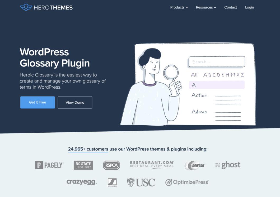 35. Heroic WordPress Glossary Plugin