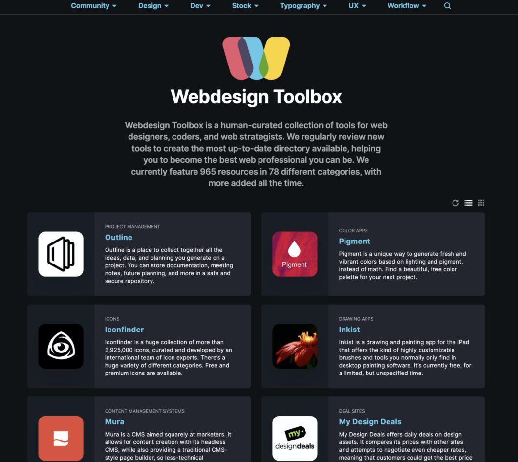 7. Webdesign Toolbox
