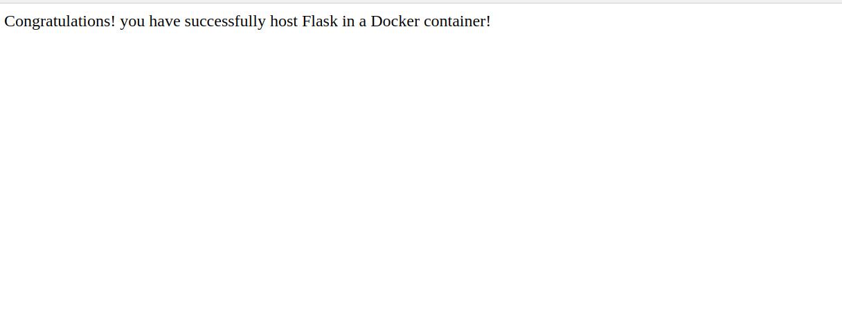 install Docker and create a Flask application on the Ubuntu server