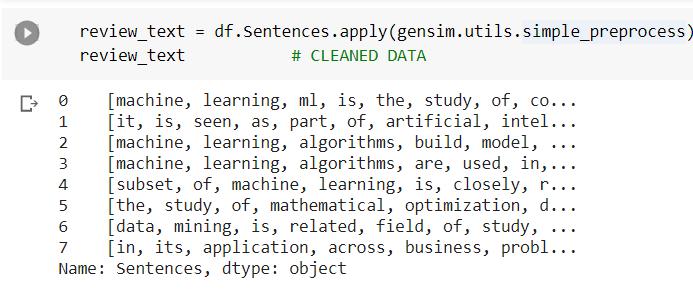 Converting Word Vectors Into Document Vectors Using Gensim